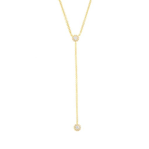 collar oro amarillo y diamantes